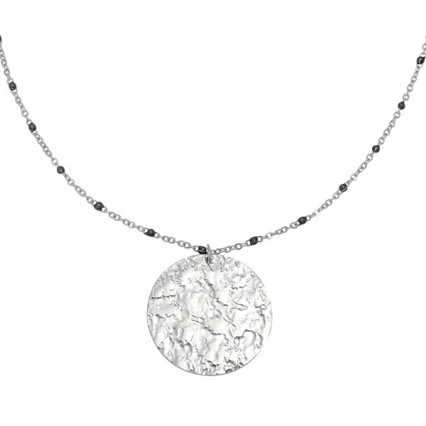 Ketting cast in stone zilver