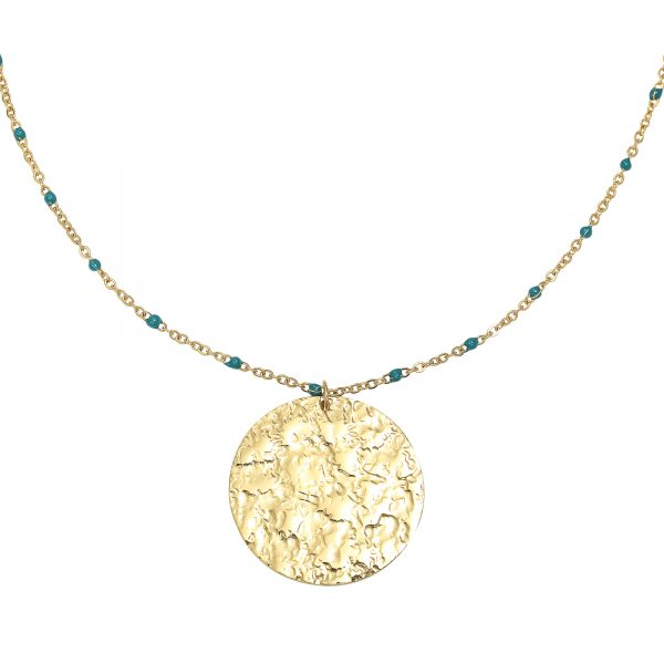Ketting cast in stone goud