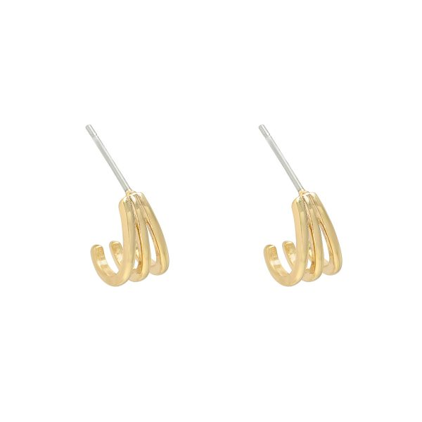 Handgemaakte oorbellen vee goud