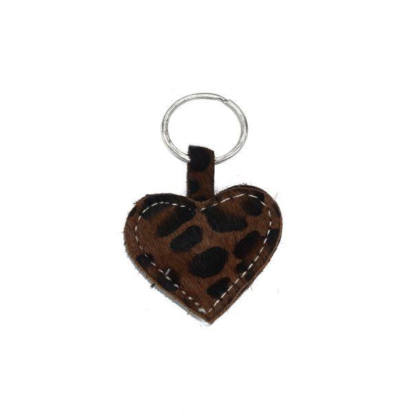 Keychain dark leopard
