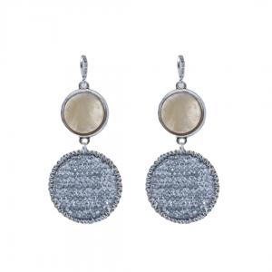 Handgemaakte oorbellen silver shades