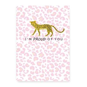 sieraden kaartje 'i'm proud of you'