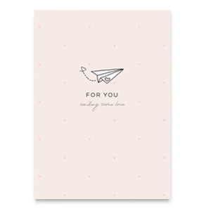 Sieraden kaartje 'for you'