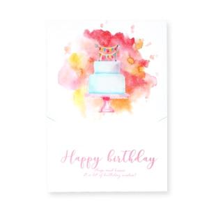 Sieraden kaartje 'happy birthday'