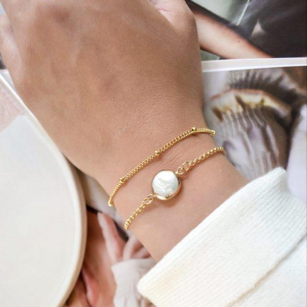 Handgemaakte armband pearl on me