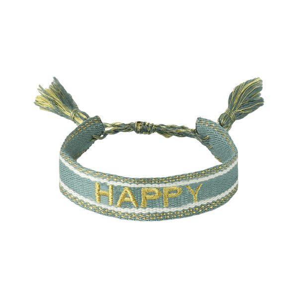 Handgemaakte armband happy green