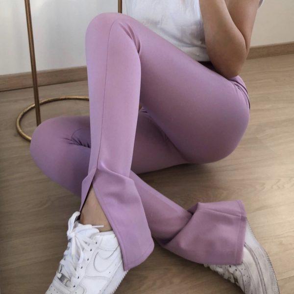 Split legging lila