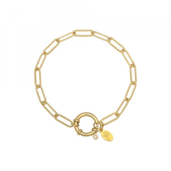 Handgemaakte armband chunky chain