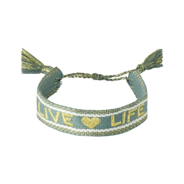 Handgemaakte armband live life