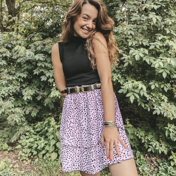 Fashion rok lila dots