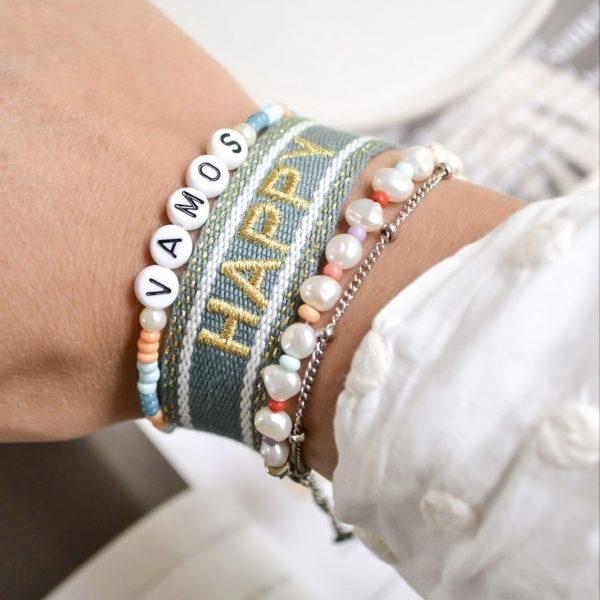 Handgemaakte armband 'vamos'