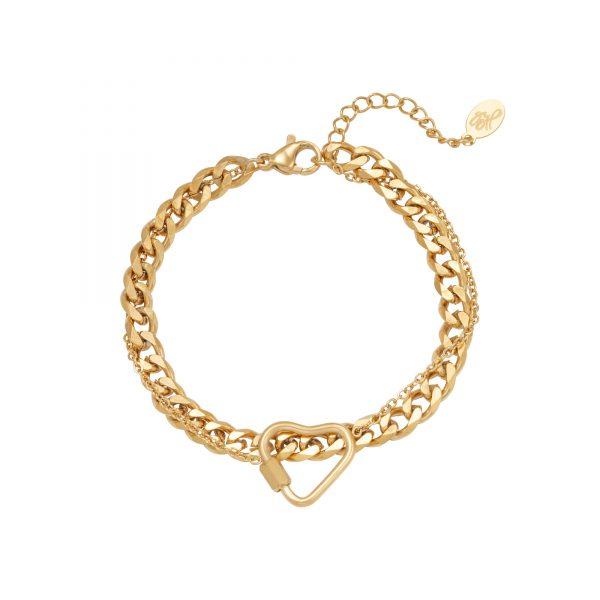 Handgemaakte armband chained heart