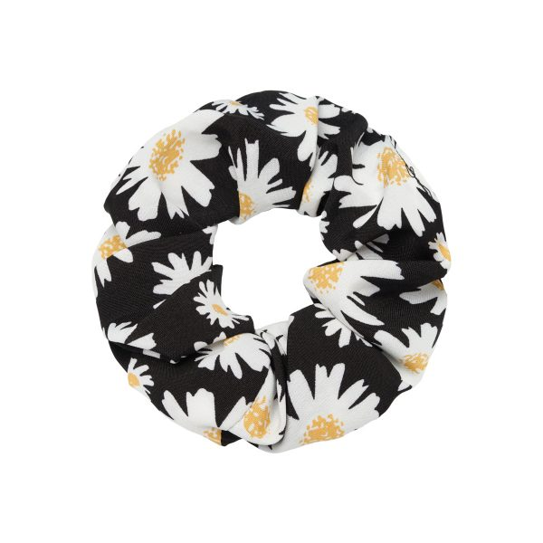 Scrunchie daisy flowers black