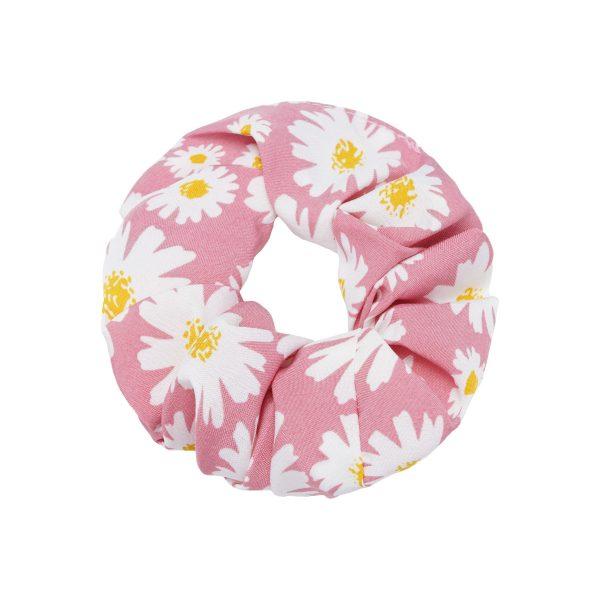 Scrunchie daisy flowers pink