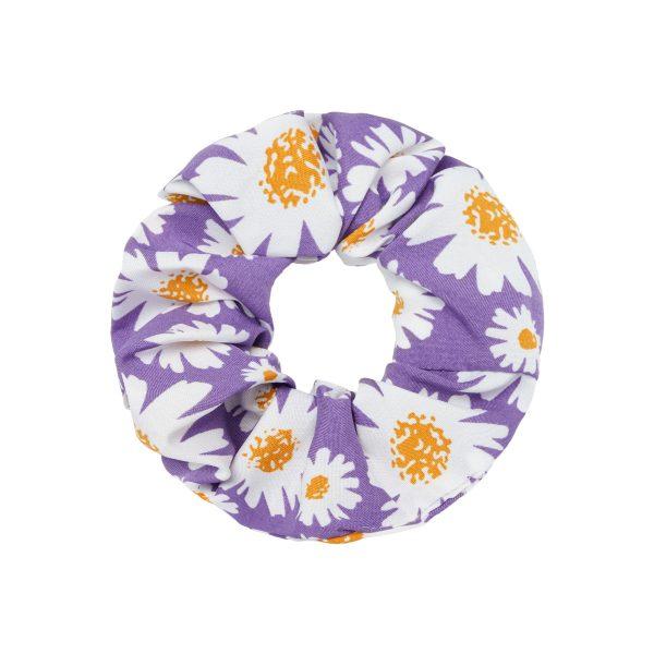 Scrunchie daisy flowers lila