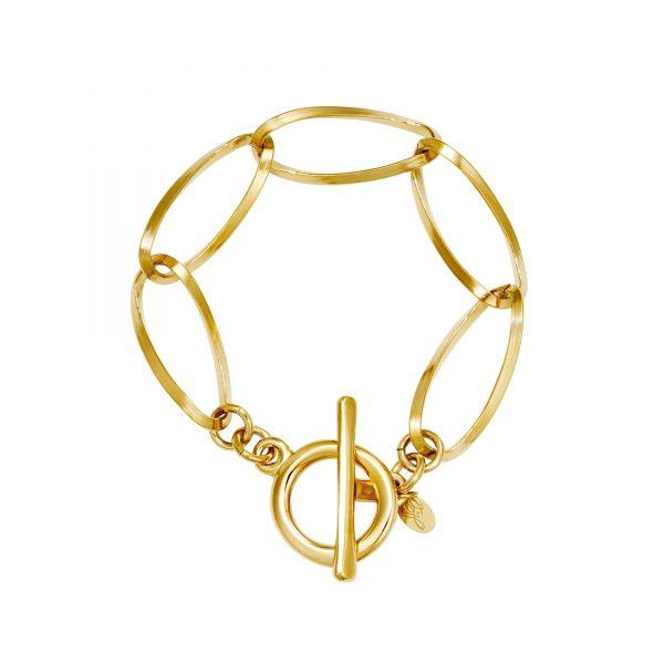 Handgemaakte armband poppy chain