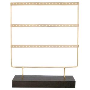Oorbellen display gold/black - 3 rijen