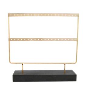 Oorbellen display gold/black - 2 rijen