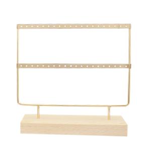 Oorbellen display gold/white - 2 rijen