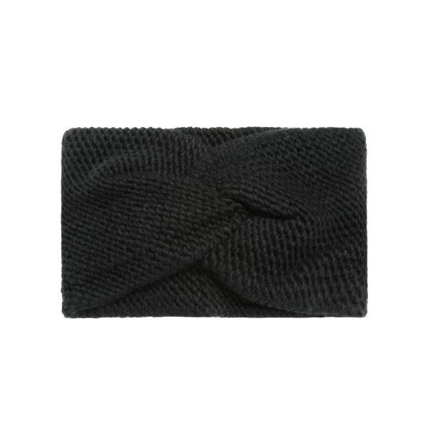 Knitted hoofdband zwart