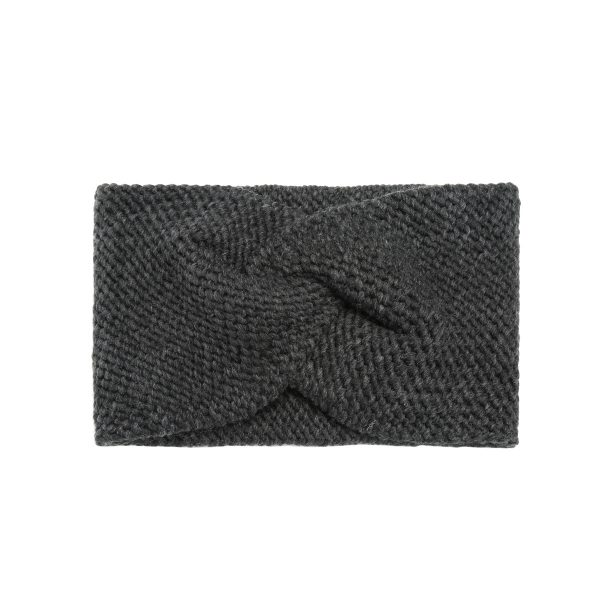 Knitted hoofdband donkergrijs