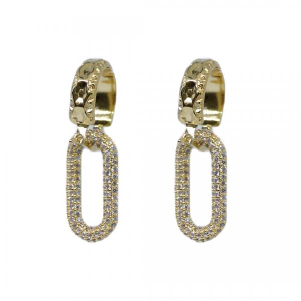 Handgemaakte oorbellen glam it on, goud