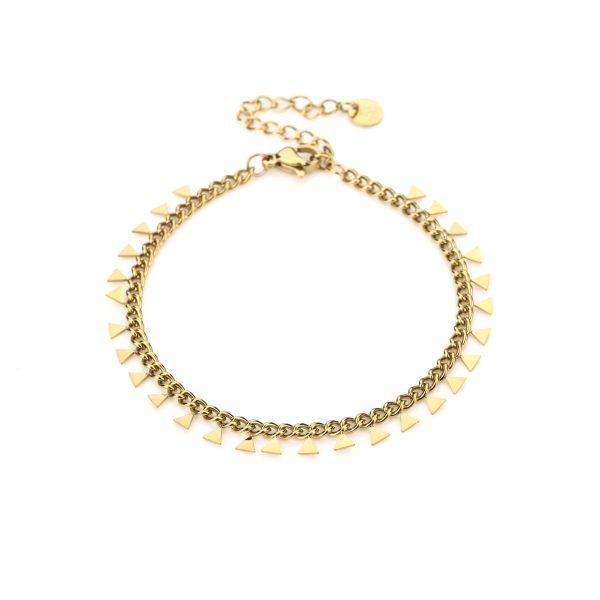 Handgemaakte armband triangle chain