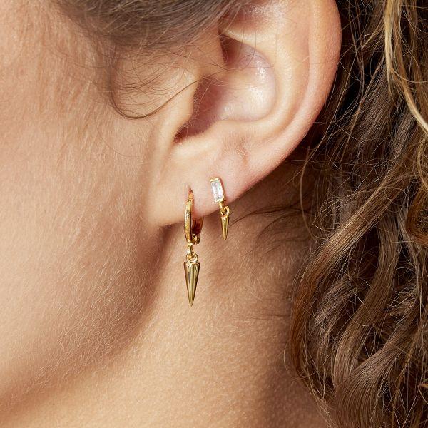 Handgemaakte oorbellen dangling cone