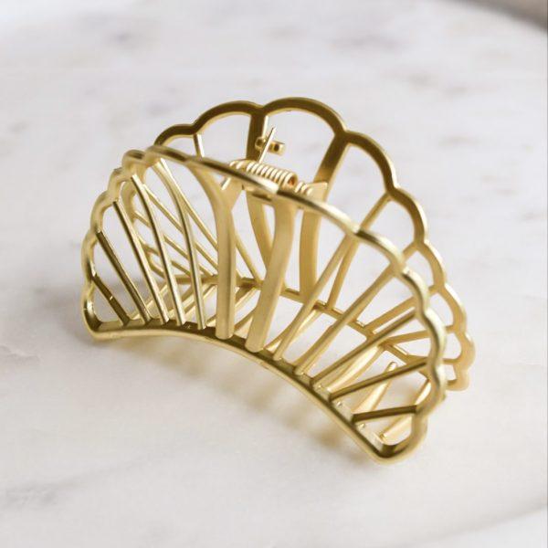 Haarspeld golden shell