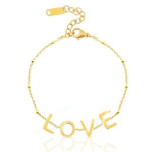 Armband LOVE, goud