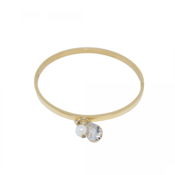 Armband steel pearl