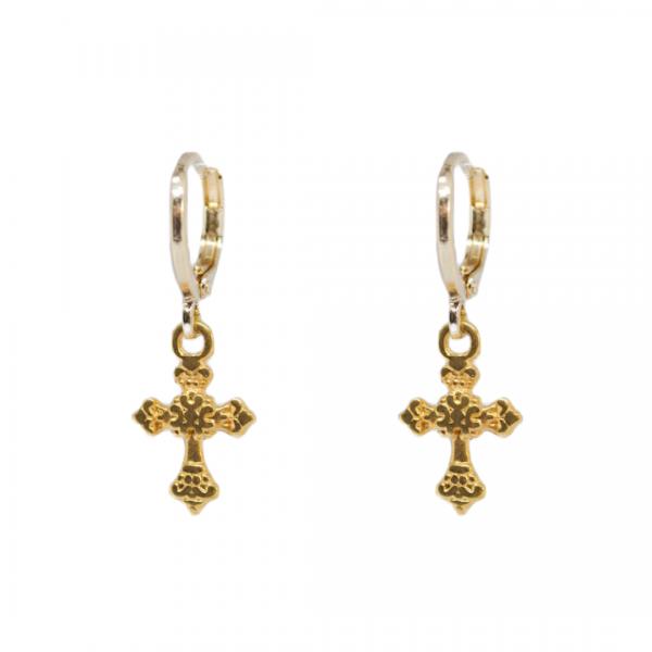Handgemaakte oorbellen cross