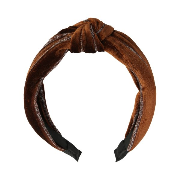 Haarband glitter brown